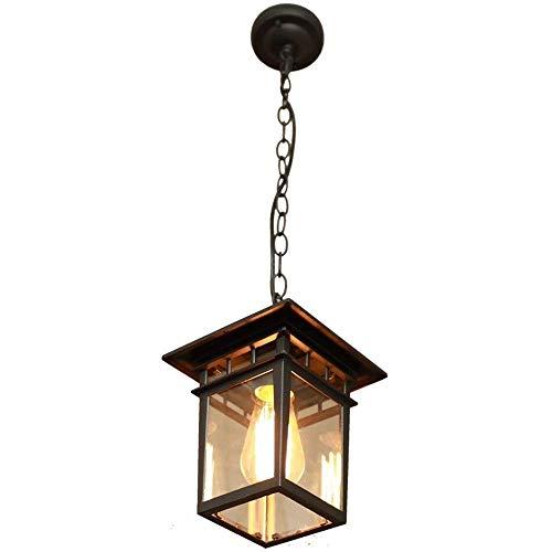 Light Foyer Glass Lampenkap Chandelier, Lampion hanglamp Cage Opknoping licht for Entryway eetkamer, keuken Bar Cafe