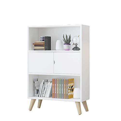 Estantería Biblioteca Nordic Simple estantería Baja Dormitorio Tabla Student Home Living Almacenamiento Librero pequeño Estante Librería (Color : White)