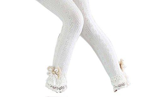 Black Temptation Chaussures en Mousseline de Coton à Manches en Dentelle de Mode pour Les Collants de Printemps/Automne, 04