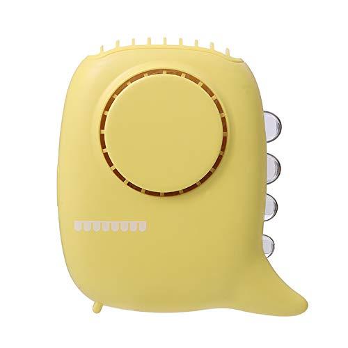 ZYXZXC Mini Foldable Neck Fan,Portable Hand Free Fan,Desk Fans Usb,3-Speed Adjustable,Long Lasting 6 Hours,Wearable Mute Lazy Neck Fan For Outdoor, Room,Office,Yellow