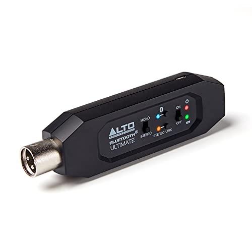 Alto Professional Bluetooth Ultimate - Wiederaufladbarer Bluetooth-Stereo-Empfänger mit XLR-Verbindung für Mischpulte / Audiomixer-Ausrüstungen und aktive PA Systeme