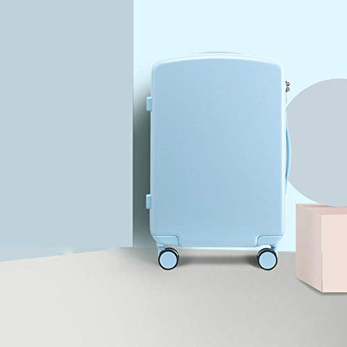 SFBBBO luggage suitcase Luggage Case Trolley Suitcase Spinner Mute Wheel PC Travel Rolling Wheels Luggage Carry On Boarding 24' Blue