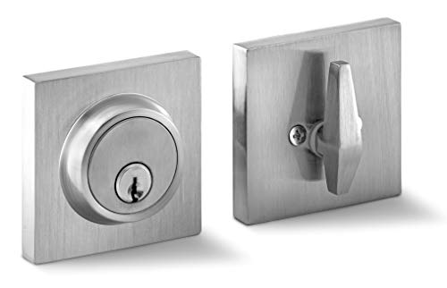 Berlin Modisch Single Cylinder Deadbolt Lock Slim Square for Front Door Modern Contemporary High Security Heavy Duty –...