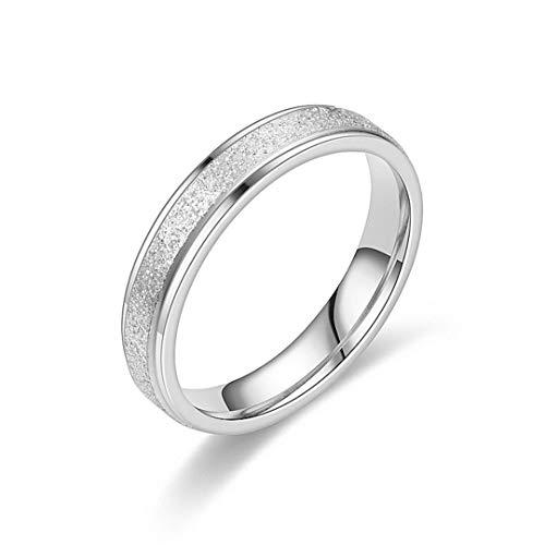 DJDLNK Vintage roestvrijstalen ring, zilver, roségoud, zwart, verlovingsring, voor vrouwen en mannen, vingersieraad