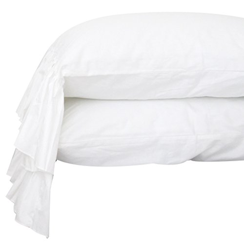 Cheap Queen's House White Pillowcases King Size Set of 2-Style G