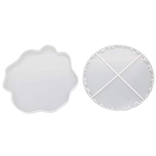 Lopbinte Silicone Coaster Molds, 2PCS Irregular Shaped Slice Molds, Slice Molds for Making Cup Bowl Mats, Home Decoration