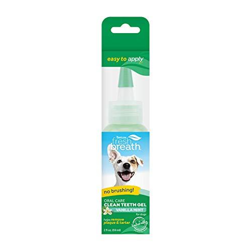 Tropiclean Fresh Breath by Gel di Igiene Dentale per Cani - Denti Puliti, Senza Spazzolare - Contro Placca & Tartaro - Vaniglia Menta - 59 ml