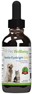 Pet Wellbeing Nettle-Eyebright Gold for Cats - Natural Support for Season Allergies in Cats - 2oz (59ml)