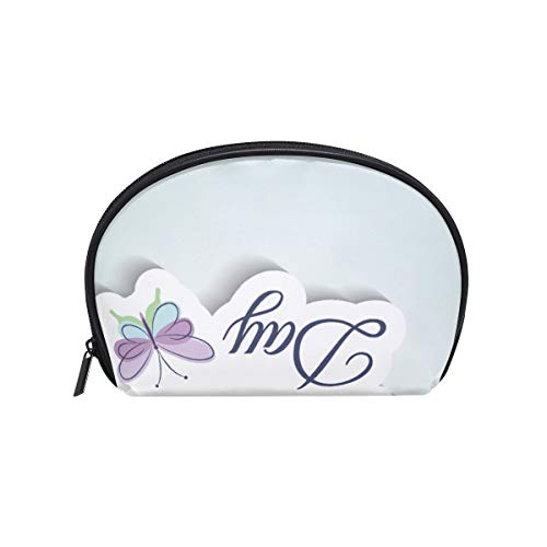 Make-upcosmeticatasje Butterfly Letter Happy Mothers Day met ritssluiting