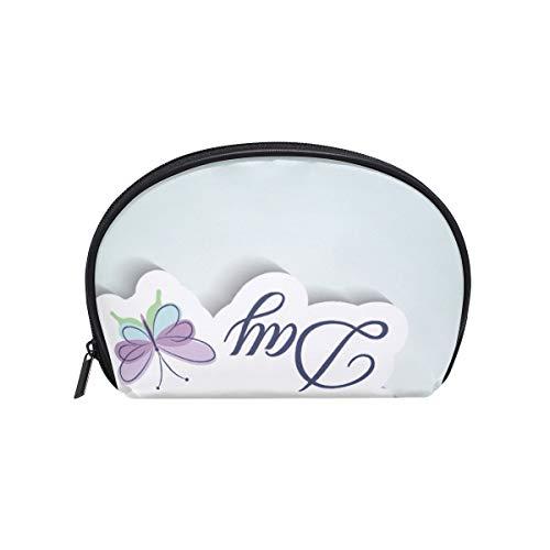 Make-upcosmeticatasje Butterfly Letter Happy Mothers Day met ritssluiting