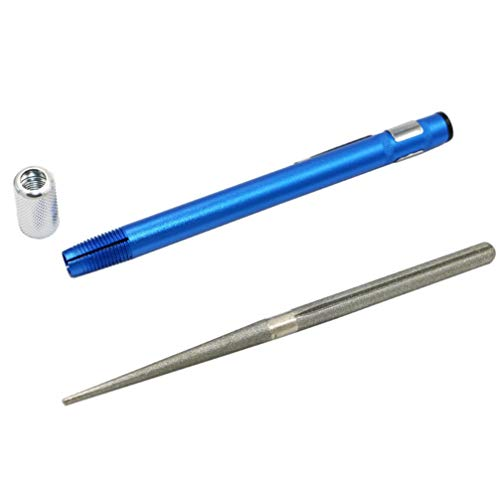 Cabilock - Bastone per affilacoltelli portatile retrattile in acciaio diamantato per la cucina all'aperto, grana migliore