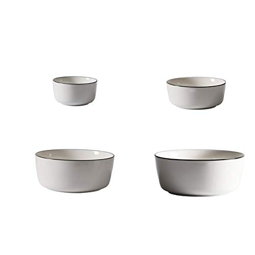 MINRUIGONGMAO Cuenco de cerámica, Varios tamaños y se Puede Utilizar en el microondas, el lavavajillas y el Armario de desinfección