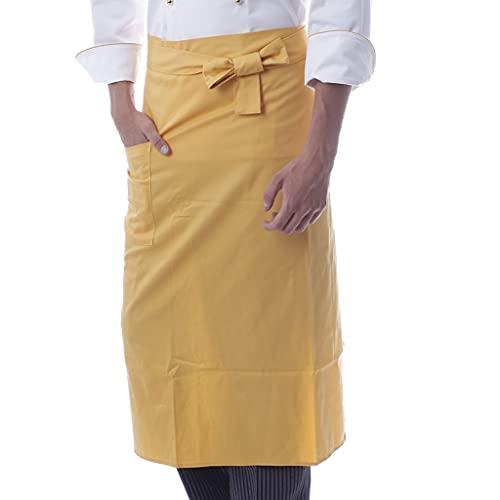 delantal de cocina Delantal de trabajo antiestático de alta gama, delantal antiincrustante de media altura con bolsillos para pasteles de restaurantes chinos occidentales delantales bbq delantal de tr