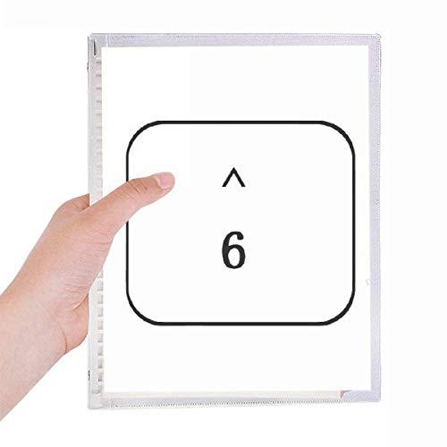 Keyboard Symbol 6 Notebook Loose-leaf Spiral Refillable Journal
