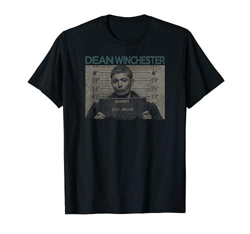 Supernatural Dean Mug Shot T-Shirt