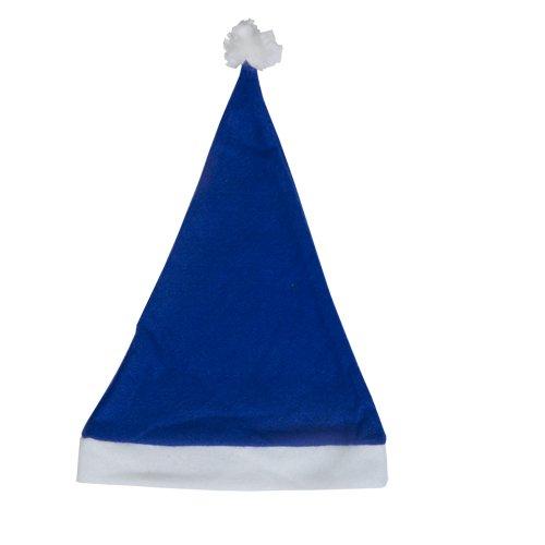 DISOK Lote de 50 Gorros de Papa Noel Azul - Gorros de...