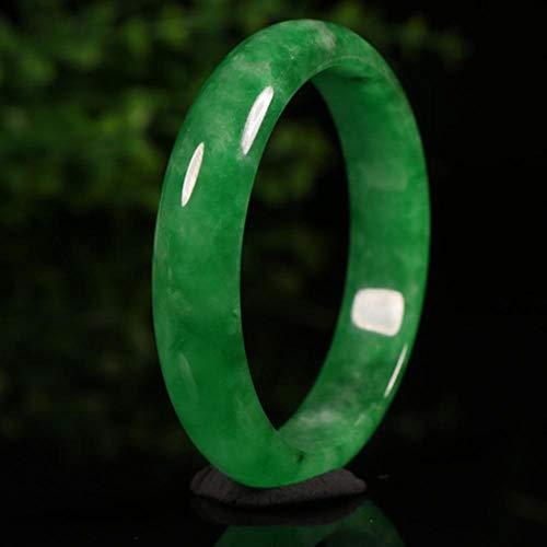 Yarmy Jade Armreif,Natürliche Jade Burma Jade Armband Volle Bohnenfarbe Jade Armband Frauen