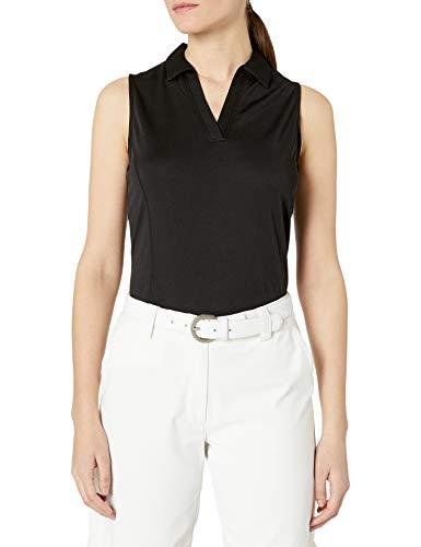PGA TOUR Damen Sleeveless Airflux Golf Polo Shirt Golfhemd, Caviar, X-Klein