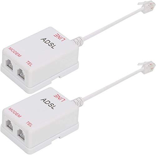 Uvital in-line DSL Filter Splitter/in-line DSL Filter RJ11 6P2C Male to 2 Female Telephone Modem ADSL Splitter Filter