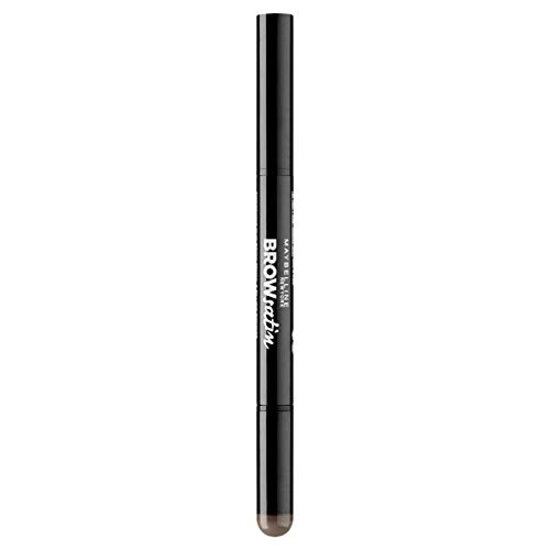 Maybelline New York Brow Satin, Lápiz de cejas, Tono 04 Dark Brown