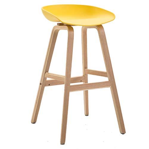 Barkruk, barkruk, eetkamerstoel, hout met metalen bovenkant, vintage, designer keuken, pub, barkruk, designer industriële stool (kleur: A)