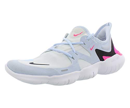 Nike Free RN 5.0 Women's Running Shoe White/Black-Half Blue-Hyper Pink 6.5
