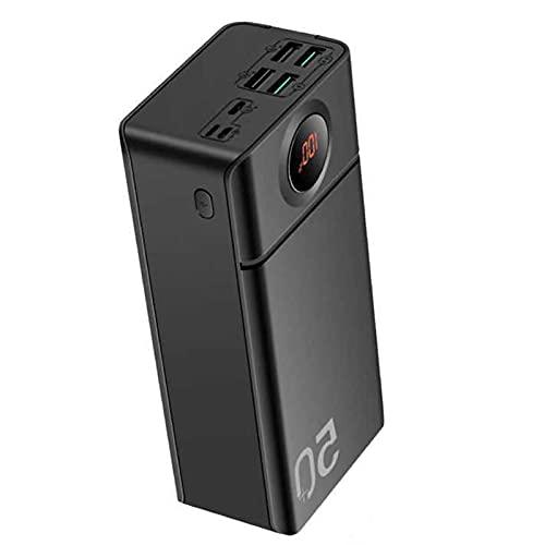 AMAZOM Cargador Portátil, Power Bank, 50000Mah Batería Externa, 5V / 3A 2 USB + 22.5W / 18W 2 USB + 18W PD Type-C Carga Rápida con Power Banks con Pantalla LED