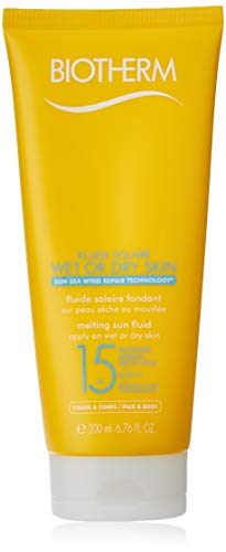 Biotherm Fluid Solaire Wet or Dry Skin SPF 15 200ml