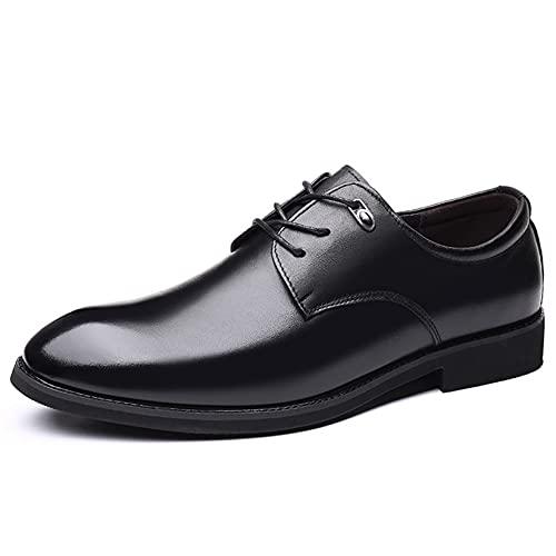 Zapatos de Negocios para Hombre Zapatos clásicos de Cuero con Cordones y...