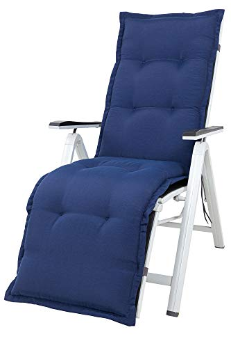 Kettler Polen KETTtex 2148 Auflage Relaxliegen Florence dunkelblau Sitzpolster 170x50x8 cm (ohne Liege)