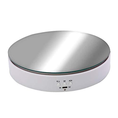 FITYLE Drehbare Plattenspieler Shop Display-ständer Elektrisch Schmuck Anzeigen Halter Basis Tisch Plattform - Weiß