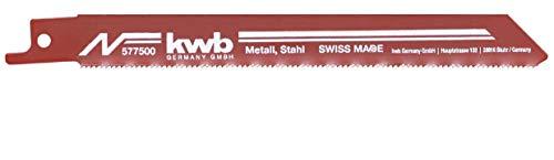 KWB 5775-00 Säbelsägeblätter, Metallbearbeitung, Stahl, Weichstahl, Profile, Bleche, Aluminium, Kunststoff