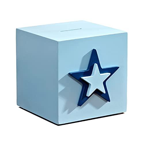 TBUDAR Pentagrama Cuadrado Sailor Azul Hucha Cumpleaños Regalo de cumpleaños o Clip de Libro Decoración para el hogar Día de los niños Regalo Piggy Bank Mini (Size : Small)