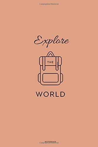 Explore the world Notebook: Karriertes Notizbuch DIN A5 - 110 Seiten   Surfer Welle Reisen Tagebuch Abenteuer Meer Koffer Flugzeug Erinnerung Memories   Geschenk Weihnachten Geburtstag