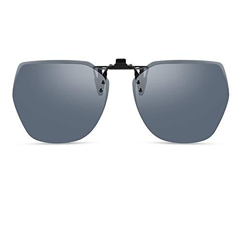 Gafas de sol polarizadas para mujer y hombre, gafas de sol polarizadas anti-UV, lentes grandes poligonales, gris, morado, azul, rosa (color: gris)