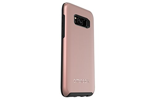 OtterBox SYMMETRY SERIES for Samsung Galaxy S8 - Retail Packaging - PINK GOLD (BLACK/PINK GOLD GRAPHIC)