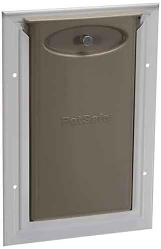 PetSafe, Porta per gatti Staywell in alluminio resistente per gatto e cane di piccola taglia, con sistema di bloccaggio, robusto, isolante - Piccola
