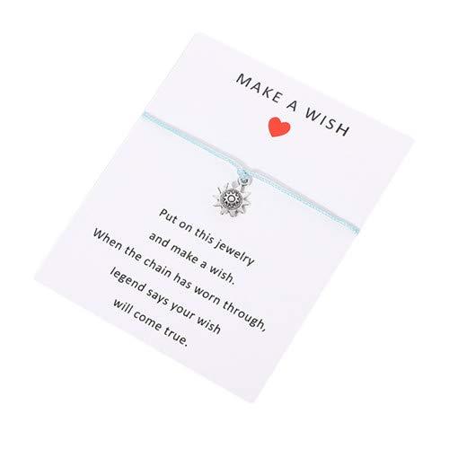 Sperrins Bracelets de corde tressée Bracelets de tournesol faits à la main Bracelets d'amitié pour femmes Filles