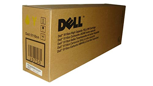Dell JD750 OEM Toner - 5110CN High Yield Yellow Toner (OEM# 310-7895) (12000 Yield) by Dell