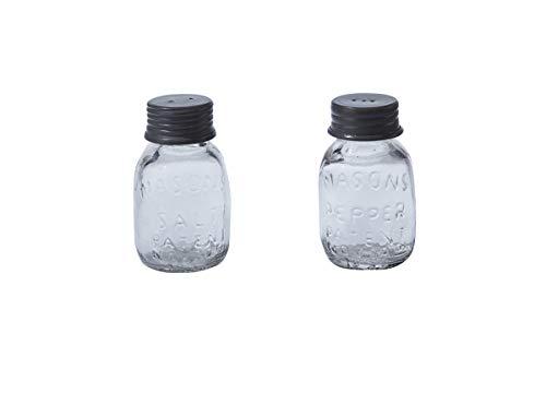 Park Designs Glass Mason Jar Salt & Pepper Set