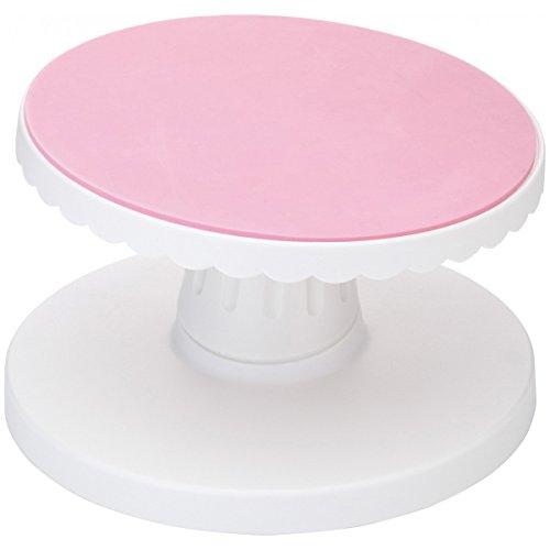 Kitchen Craft Kuchendeko-Drehständer Sweetly Does It 23,5cm in rosa/weiß, Porzellan, 8 x 16 x 26 cm