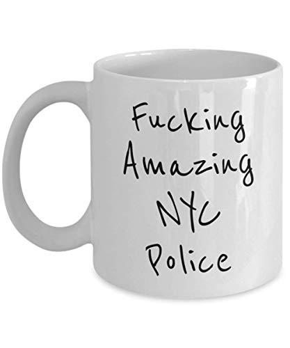 Taza divertida de la policía de Nueva York - Fucking Amazing - La mejor idea de regalo para la jubilación, mujeres, hombres, tribunal, oficial, policía, policía, detective, inspector, mujer policía o