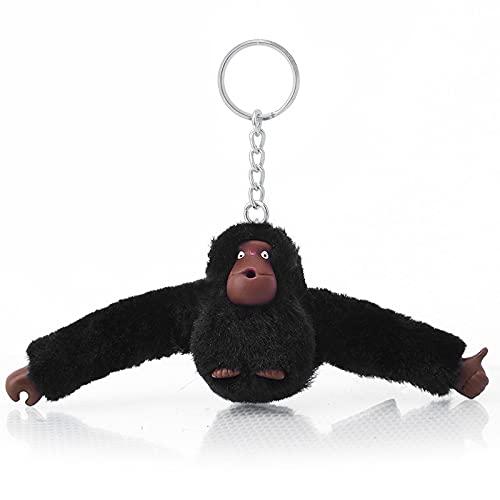 Linda Chica Pelusa Piel Llavero Llavero orangután Llavero en pantalón Mujer Bolsa...