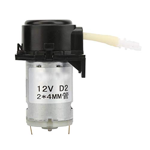 D-2 2 * 4mm DC 12V Schlauchpumpe Dosieren, DIY Bürstenpumpe Motorpumpe Micro Wasserpumpe für Labor Analytic(Schwarz)