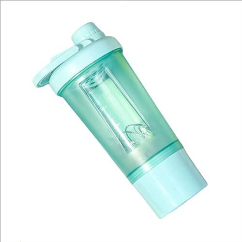 UKKO Bottiglia d'Acqua Flash Shake Shake Tazza Milkshake Bottiglia Sportiva All'Aperto Fitness Acqua Stretta Bottiglia Bottiglia Proteina Polvere Portatile Formazione-A,500Ml