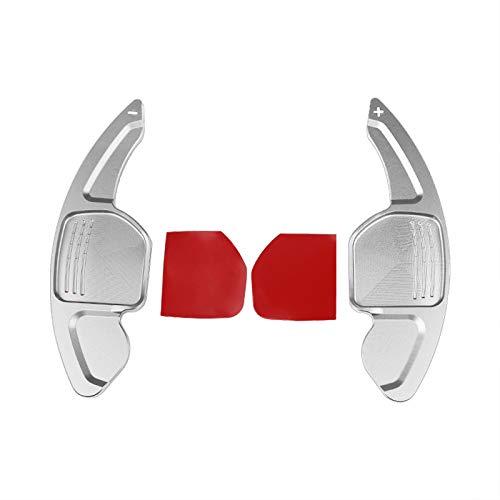 QOHFLD Schaltpaddel Aluminiumlegierung Auto Lenkrad Schaltpaddel, für Audi A3 / A4L / A5 / A6L / Q3 / Q7 / SQ5 / RS3 Auto Modell Auto Lenkrad Dekoration