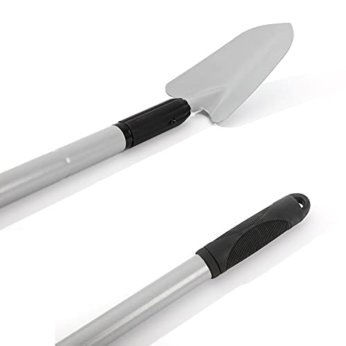 KINEDOO Extendable Handle Trowel, Gardening Shovel for Digging and Transplanting