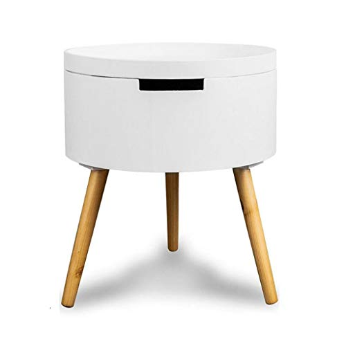 ZPEE Coffee Table Modern White Lacquered Dining Table Bedside Table Simple Dressing Table Living Room Sofa Side Table Multifunctional Storage Table Small Coffee Table