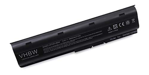 vhbw Li-ION Batterie 6600mAh (10.8V) pour Ordinateur Portable, Notebook HP/CompaQ Presario CQ62-200SG, CQ62-200SY, CQ62-202SO comme 586006-321