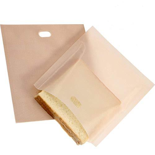 KisSealed Bolsas para tostadoras 16 paquetes de bolsas de tostadas reutilizables antiadherentes, resistentes al calor,aptas para queso asado,sándwiches,se puede lavar en lavaplatos Toast Bags